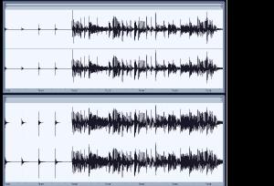 コンプ前・後の波形図