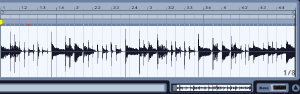 DAWで見た音の波形
