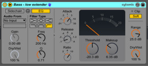 Live9のエフェクトを遊ぶ。18『Bass - low extender』
