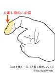 『人差し指でハジく』